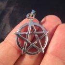 925 sterling silver wicca pentagram pendant necklace jewelry art     A3