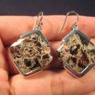 925 Silver Jasper crystal stone earrings jewelry A