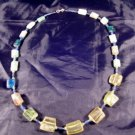 925 Silver Roman Glass Lapis Bead Necklace Afghanistan Jewelry Art 1500 yrs