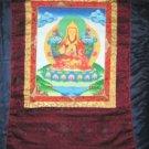 Lg Tsonghapa Thangka Thanka Painting w/ Brocade Nepal Art A