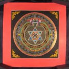 Mixed Gold Ohm Star Mandala Thangka Thanka Painting Nepal A2