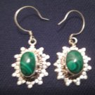 925 Silver Malachite Dangle Earring Earrings Jewelry Nepal A