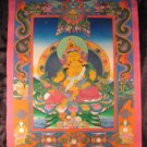 24 K  Jambhala Deity Thangka Thanka Painting Nepal art dragon border