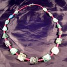 925 Silver Roman Glass Ruby Stone Bead Necklace Jewelry Art Afghanistan 1500 yr