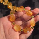 925 Silver Citrine peridot tourmaline crystal mineral jewelry Afghanistan