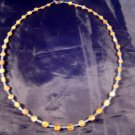 925 Silver Roman Amber Color Glass Bead Necklace Jewelry Art Afghanistan 1500 yr