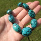 Natural Himalayan Turquoise Necklace Nepal Jewelry Art  A3