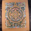 24 K Gold Shakyamuni Buddha Mandala Thangka Thanka Painting dagon border Nepal A