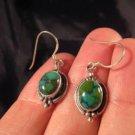 925 Silver Tibetan Turquoise Earrings Earring jewelry Nepal himalayan art A
