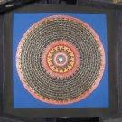Small  Pure Silver Conch Shell Thangka Thanka Mandala Painting Nepal Art