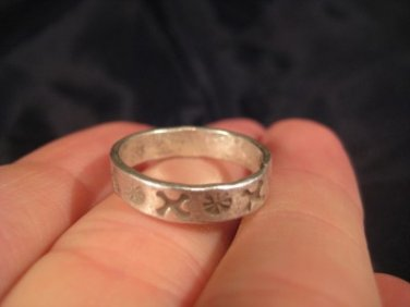 999 Silver Hill Tribe Ring nothern Thailand jewelry art size 5.75