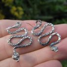925 Silver Snake Earrings Earring jewelry Nepal himalayan art