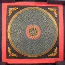 Small 24 K gold Gold Ohm Mandala Thangka Thanka painting Nepal Himalayan art A4