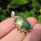 925 Silver Tibetan Turquoise stone crystal Pendant Necklace Nepal Jewelry Art C1