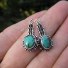 925 Silver Tibetan Turquoise Earrings Earring jewelry Nepal himalayan art A2