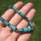 925 Silver Natural hand made Himalayan Turquoise bead Necklace Nepal A4