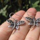 925 Silver Dragon Fly Dragonfly Earrings Earring jewelry Cambodia art