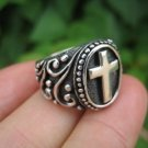 925 Sterling Silver Cross ring jewelry art thailand A2