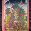 24 K gold Manjusri Manjushri Thangka Thanka Painting Nepal Dragon Border A2