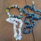 Lapis Sodalite bead necklace rose quards beads bracelet and multistone bracelet