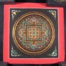 Small Mixed Gold Ohm Thangka Thanka Mandala Painting Nepal Himalayan Art