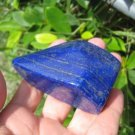 Afghanistan Deep Blue Lapis Lazul Lazuli Crystal stone rock chunk mineral A8
