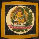 Mixed Gold Small Jambhala Thangka Thanka painting Nepal Himalayan art
