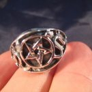 925 sterling silver pentagram wicca ring jewelry art inverted or non inverted