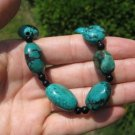 Natural hand made Himalayan Turquoise bead Necklace Nepal Jewelry Art  A4