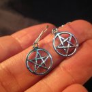 925 sterling silver wicca pentagram earring earrings jewelry art