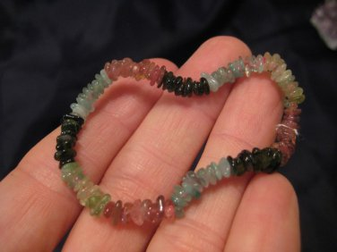 Natural Tourmaline bead stone bracelet Thailand jewelry art A7