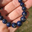 Natural Lapis Lazul Lazuli stone bead necklace jewlelry art A14
