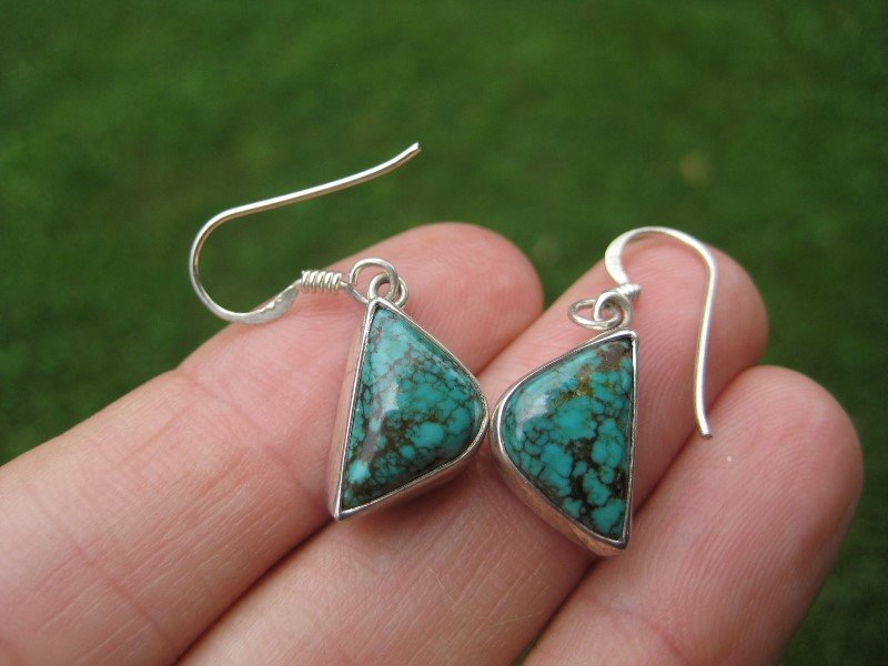 925 silver natural Tibetan stone turquoise Nepal jewelry art