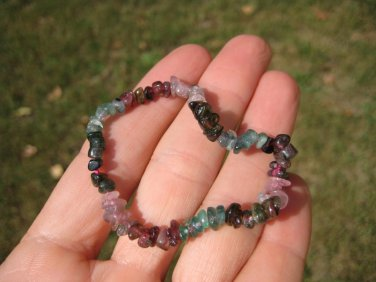 Natural Tourmaline bead stone bracelet Thailand jewelry art A14