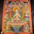 24 K Gold White Tara Dragon Thangka Thanka paintng A