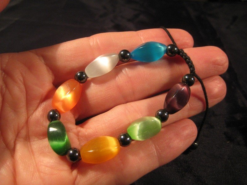 Cats Eye Crystal Bracelet Mineral stone Jewelry A