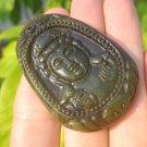 Natural Jade Kuan Yin Guan Yin Pendant Amulet talisman stone carving A11