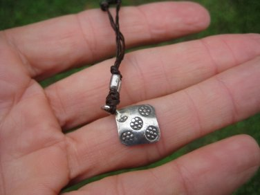 999 silver flower hill tribe pendant necklace northern Thailand
