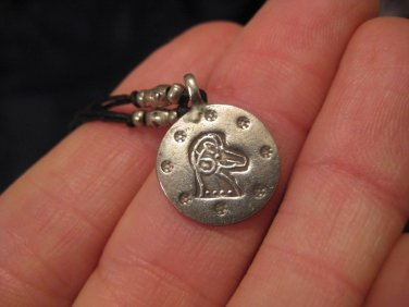 999 silver horse hill tribe pendant necklace northern Thailand A5