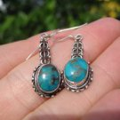 925 Silver Tibetan Turquoise Earrings Earring jewelry Nepal himalayan art A