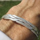 Hand Made 950 to 999 fine silver Karen hill tribe bangle bracelet Thailand A108