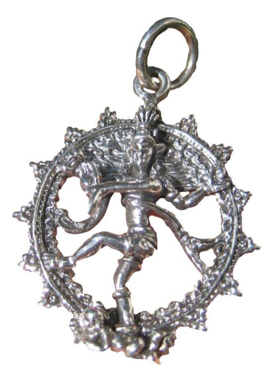 925 sterling silver Shiva  Nataraja Dance Of Destruction pendant necklace A17