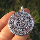 925 Silver Viswa Vajra Mandala Buddha Buddhist Pendant Necklace