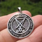 925 Silver Satanic Pentagram Pendant Pentacle necklace jewelry Art A19