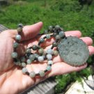 Natural  Jadeite Jade Dragon pendant necklace Amulet stone carving  A68