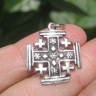 925 Sterling Silver Jerusalem Cross Fivefold Cross Crusaders Cross Medal A17