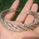 999 to 970 fine silver hill tribe bangle bracelet Thailand jewelry art A46