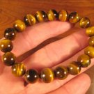 Natural Tigers Tiger Eye  bead  stone bracelet Thailand jewelry art
