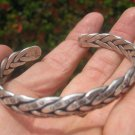999 fine silver hill tribe bangle bracelet thailand jewelry art A36