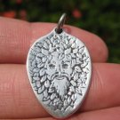 925 Silver Viking Green Man Frey Odin Osiris Pagan Pendant Necklace A12